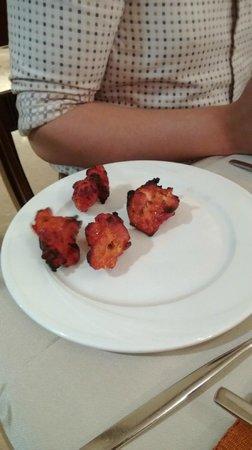 nice tender pieces of chicken from tandoor