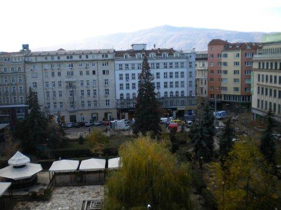 Rila Hotel Sofia: View from my room