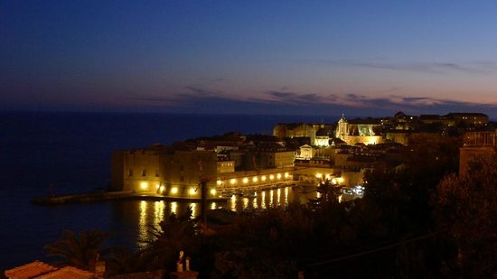 Old Town Dubrovnik Apartments : View from balcony at sunset (3 of 3)