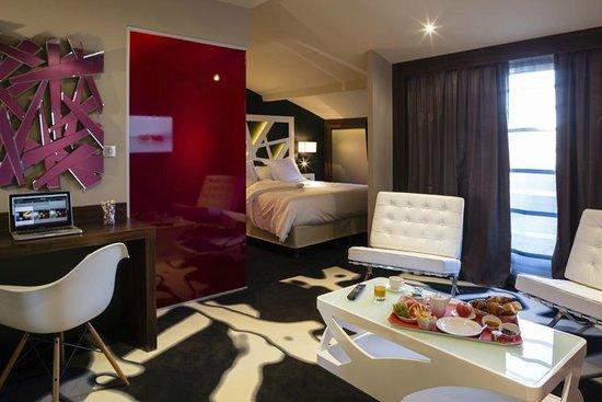Hotel de Brienne : Junior Suite N°505, Lit en 180cm,  5° étage avec terrasse privative