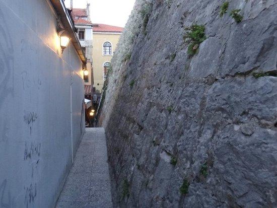 Maslina: Narrow path to the restaurant