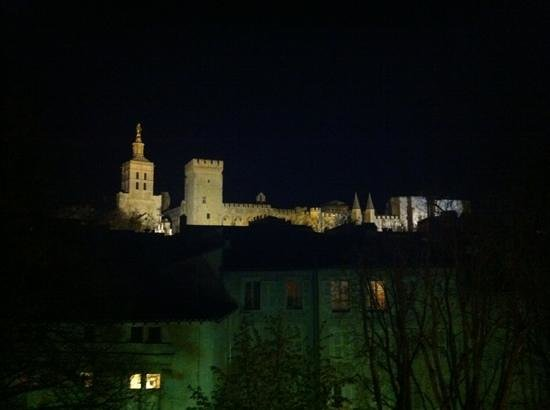 Le Limas: The night-time view from the sun terrace