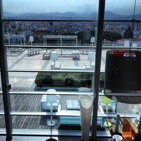 AC Hotel Palau de Bellavista: Vistas de la terraza exterior