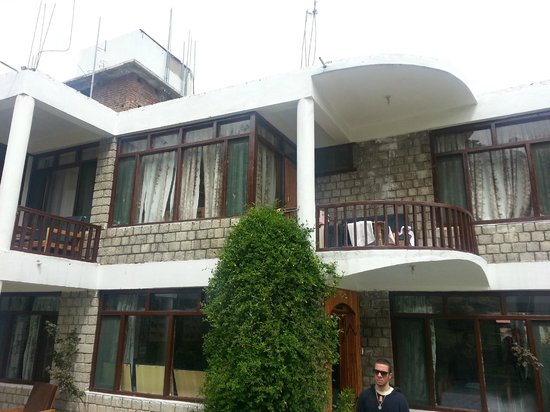 Tourist Hotel: Side View. Each room with attached Balcony