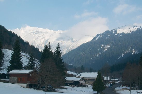 Jack & Jill: The view from my bedroom in Chalet Beaumont