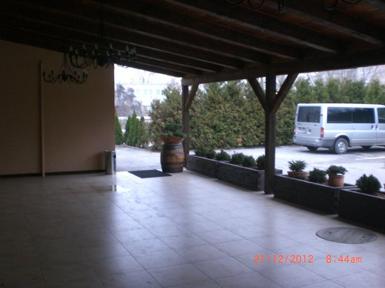 Penzion Berg: Varanda/smoking area