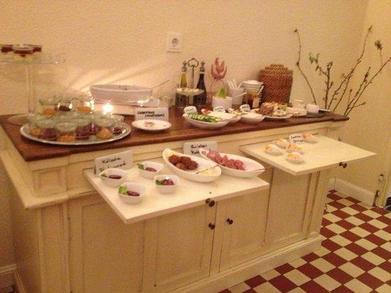 Hotel Domspitzen: Ein Teil des schmucken Frühstückbuffets