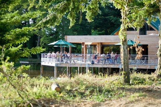Caf resto sur la terrasse village huttopia for La pomme de pin senonches