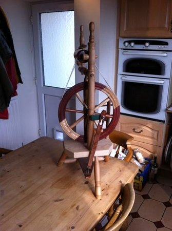 Isle of Arran Heritage Museum: here is a pic of the spinning wheel I was inspired to build by the good folk who run the museum.
