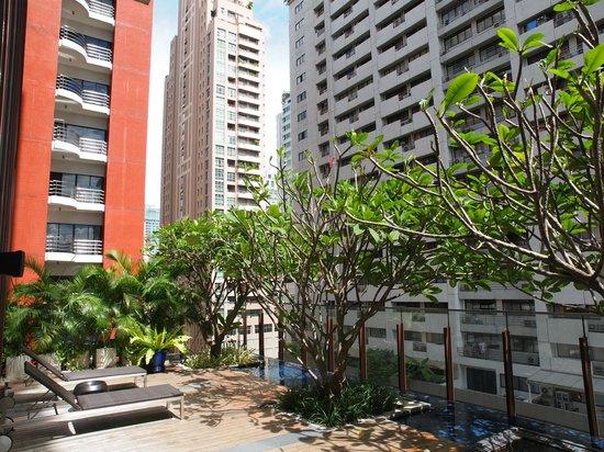 Hansar Bangkok Hotel : View at the pool