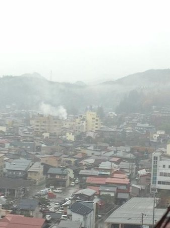 Takayama Ouan: 貸切風呂からの景色