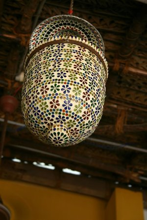 Lovely chandelier at Satsanga