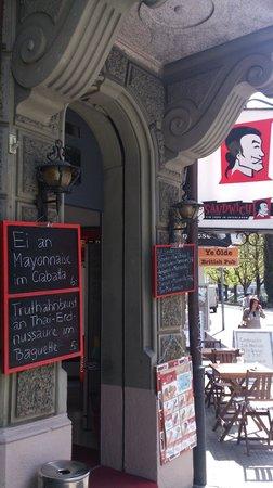 Sandwichbar: Eingang