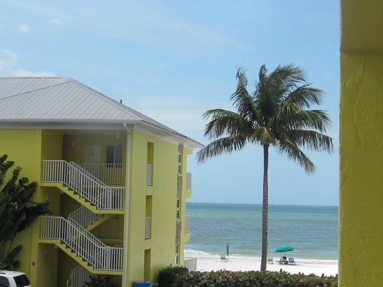 Sandpiper Gulf Resort : View from our corner unit by the road.