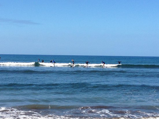 Zack Howard Surf: All four girls caught the wave- Kyle is cheering!