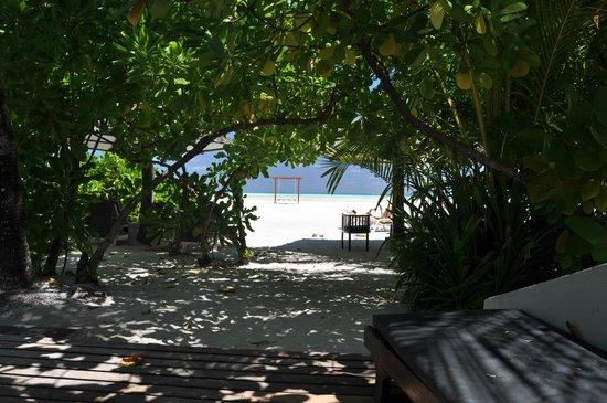Cinnamon Hakuraa Huraa Maldives: vista dal bungalow 175