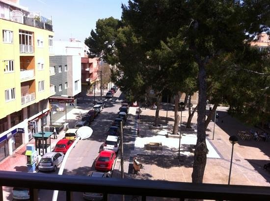 Balear: view from room onto square