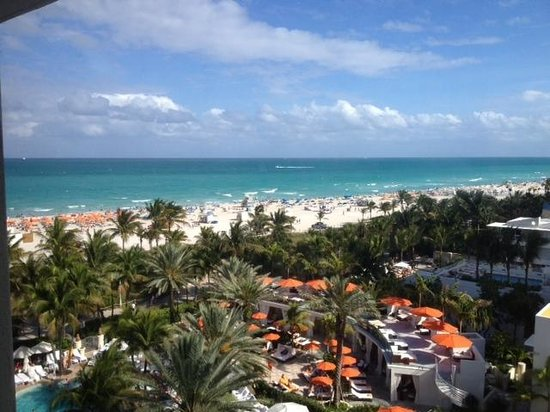 Loews Miami Beach Hotel: This is the view for a 'partial ocean view'