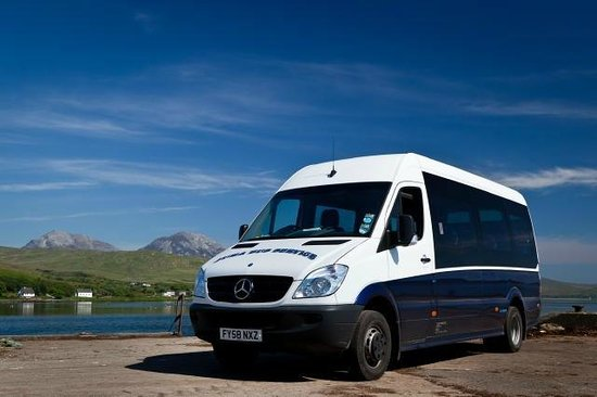 Jura Island Tours -Day Tours: Jurabus on Craighouse Pier