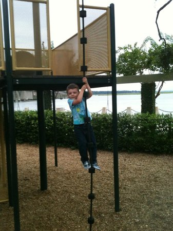 Henry C. Chambers Waterfront Park: Having fun at the waterfront playground