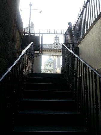 The Cellar Bar: staircase into bar