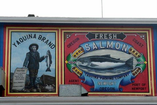 Newport's Historic Bayfront: Yaquina Salmon Ad