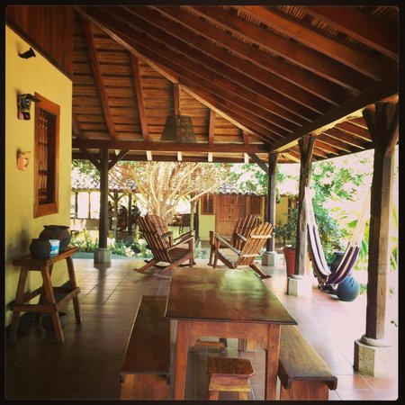 Finca San Juan de la Isla: Porch for dining, relaxing