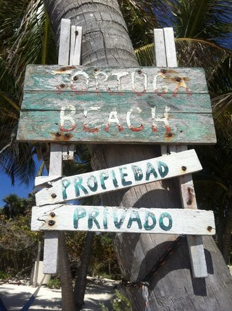Mahayana Tulum Beach Homes: the sign from the beach onto the property
