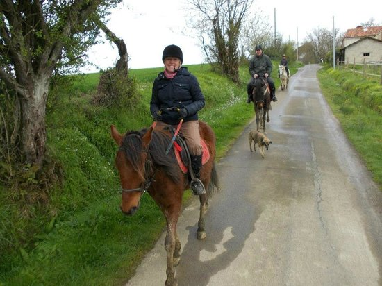 French Activity Holidays: Me, followed by Micky followed by Tim, wonderful ride!