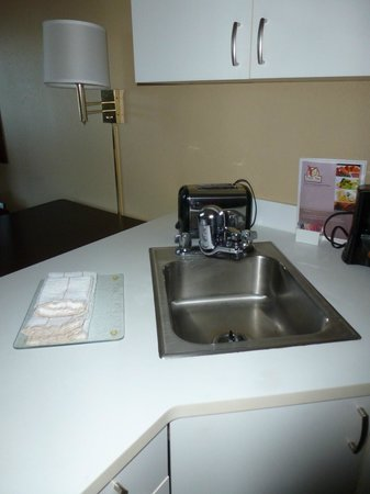 Extended Stay America - Secaucus - Meadowlands : Sink (BONUS:water purifier for drinking tap water)