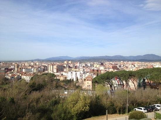 AC Hotel Palau de Bellavista: Girona from the Marriot terrace