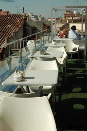 Restaurant Gaudir: Ein Genuss, Dachterasse im 4. Stock