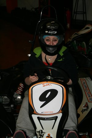 Galway City Karting : My daughter waiting to get started.