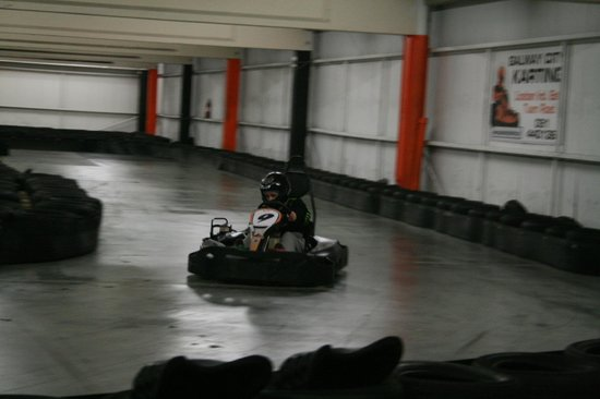 Galway City Karting : My daughter flying around the course.