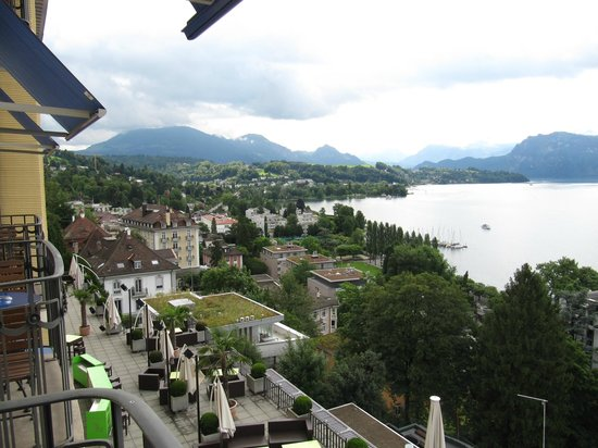 Art Deco Hotel Montana Luzern: Another view looking to the left from our room.
