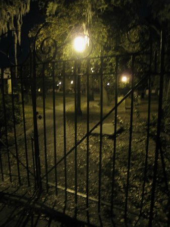 Haunted Savannah Tours: Colonial Cemetery at night