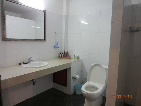 Silver Naga Hotel: WC + évier