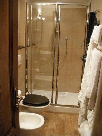 Villino il Leone: doccia della camera etnica