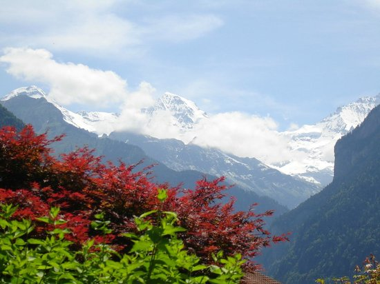 Credo Schloss Unspunnen: View of Jungfrau from Credo