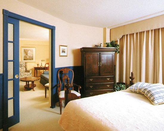 Hotel Castel & Spa Confort: Suite Provençale avec foyer d'ambiance et bain thérapeutique double