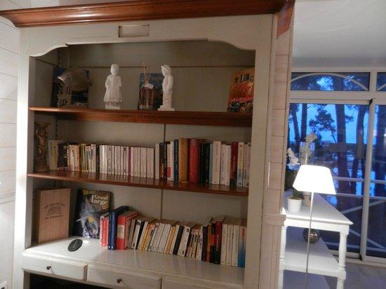La Villa Bel Ange : bibliothèque-salon