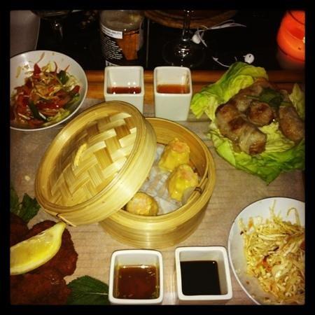 Bô & Zin : assiette d'entrees Thai