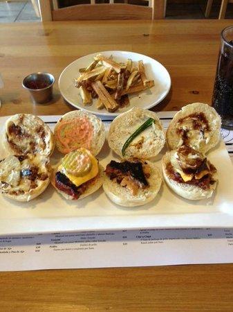 Beefcake: L to R: Teriyaki, Clasico, Popper, BBQ
