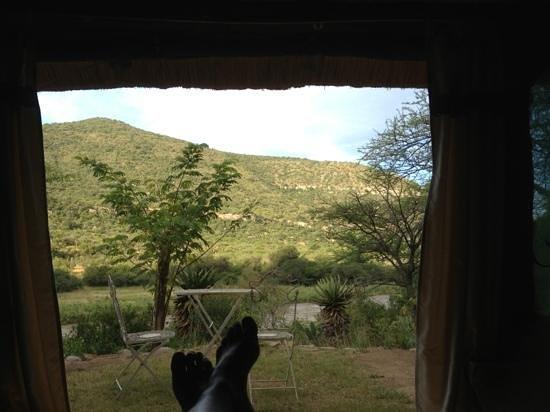 Zingela Safaris & River Camp : view from my bedroom