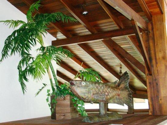 Pousada Bora Bora: Dentro do salão do café