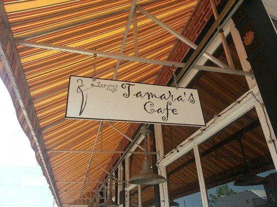 Tamara's Cafe Floridita: Sign outside the cafe