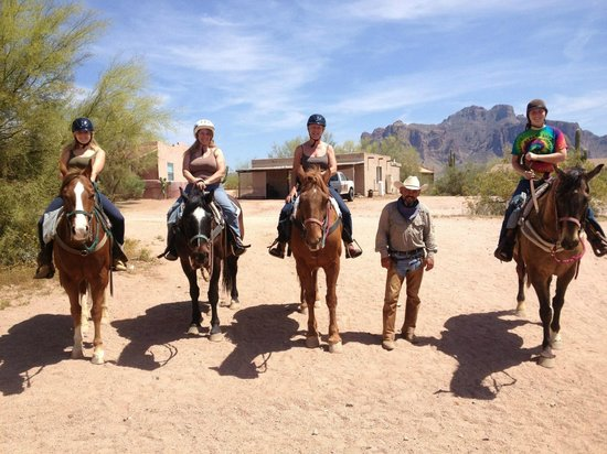 Trail riding at the OK Corral