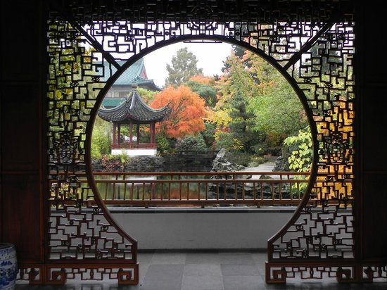 The Garden is made with Chinese materials and ancient building