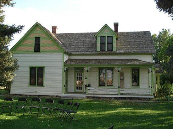 Hansen, ID: The home of Herman and Lucy Stricker, built in 1900.