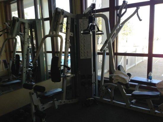 Lake Blackshear Resort and Golf Club: corner of fitness room with weight equipment
